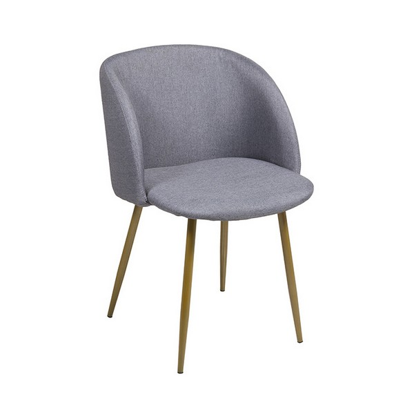 Chair Stainless steel Polyester (53 x 58 x 81 cm)|  - title=