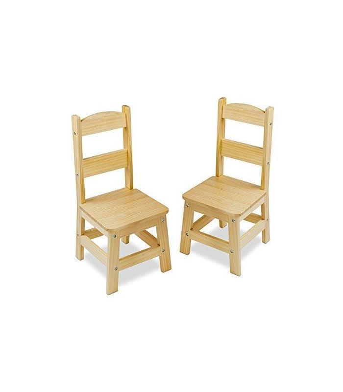 Wooden Chair Pair M & D Toy Store Articles Created Handbook