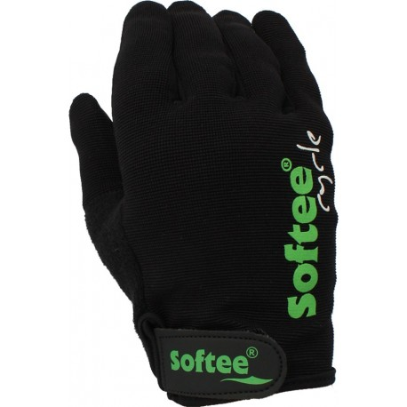 PAR DE GUANTES CICLISMO SOFTEE CONTACT - TALLA M - COLOR NEGRO