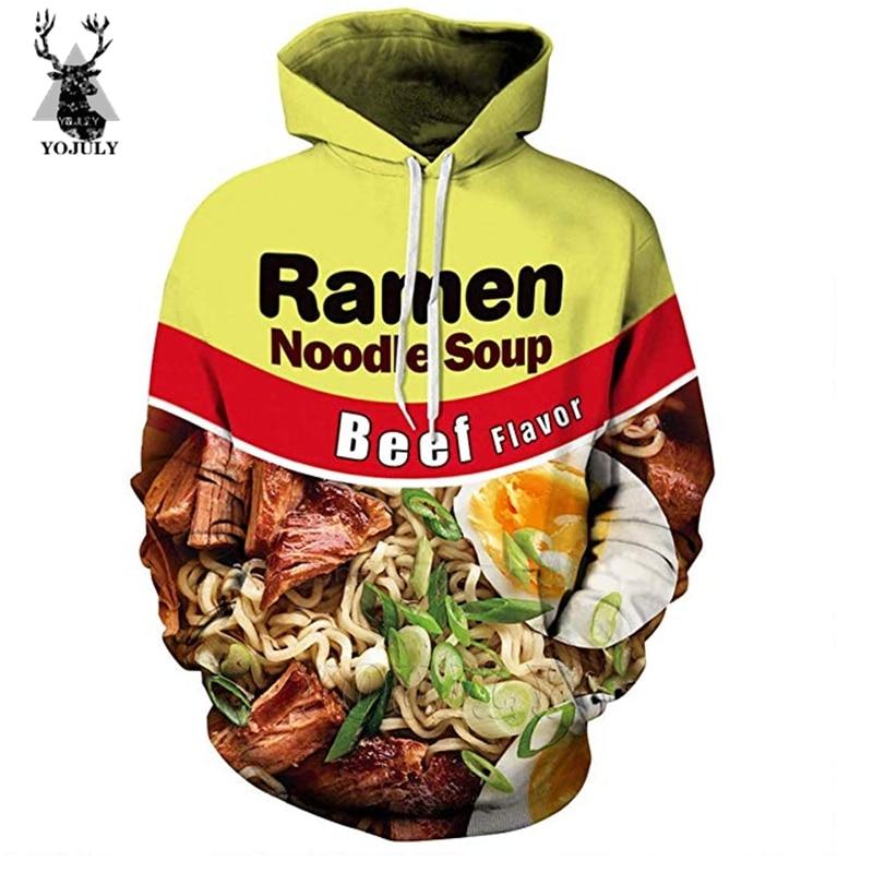 Ramen T Shirt Beef Noodle Soup Fashion Off White Men's Sets 3D T-Shirts/hoodie/Sweatshirt/trousers Hip Hop O-neck Streetwear Top