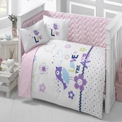 Сделано в Турции птица Младенческая Детская кроватка постельное белье-Бампер Набор для мальчика Девочки Детская мультяшная детская кроват...
