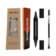 Pencil-Filler-Kit Beard-Pen for Men Four-Pronged-Tip Waterproof And Men's 2-In-1