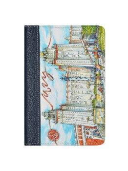 10000031661814 - MAYAKNI Store - Cubrir en el pasaporte como un regalo de Woodsurf, caras y lugares, boceto de la casa de campo, 100% cuero genuino