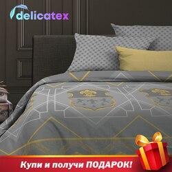 Juego de ropa de cama Delicatex 15159-1 + 15161-1KingArthyr, textiles para el hogar, sábanas, cubiertas para cojines de lino, edredón, funda de almohada