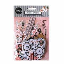 CRZCrafter – papier imprimé, 104 pièces, formes d'éphemera, découpe artisanale, Scrapbooking, fabrication de cartes, embellissements de Journal
