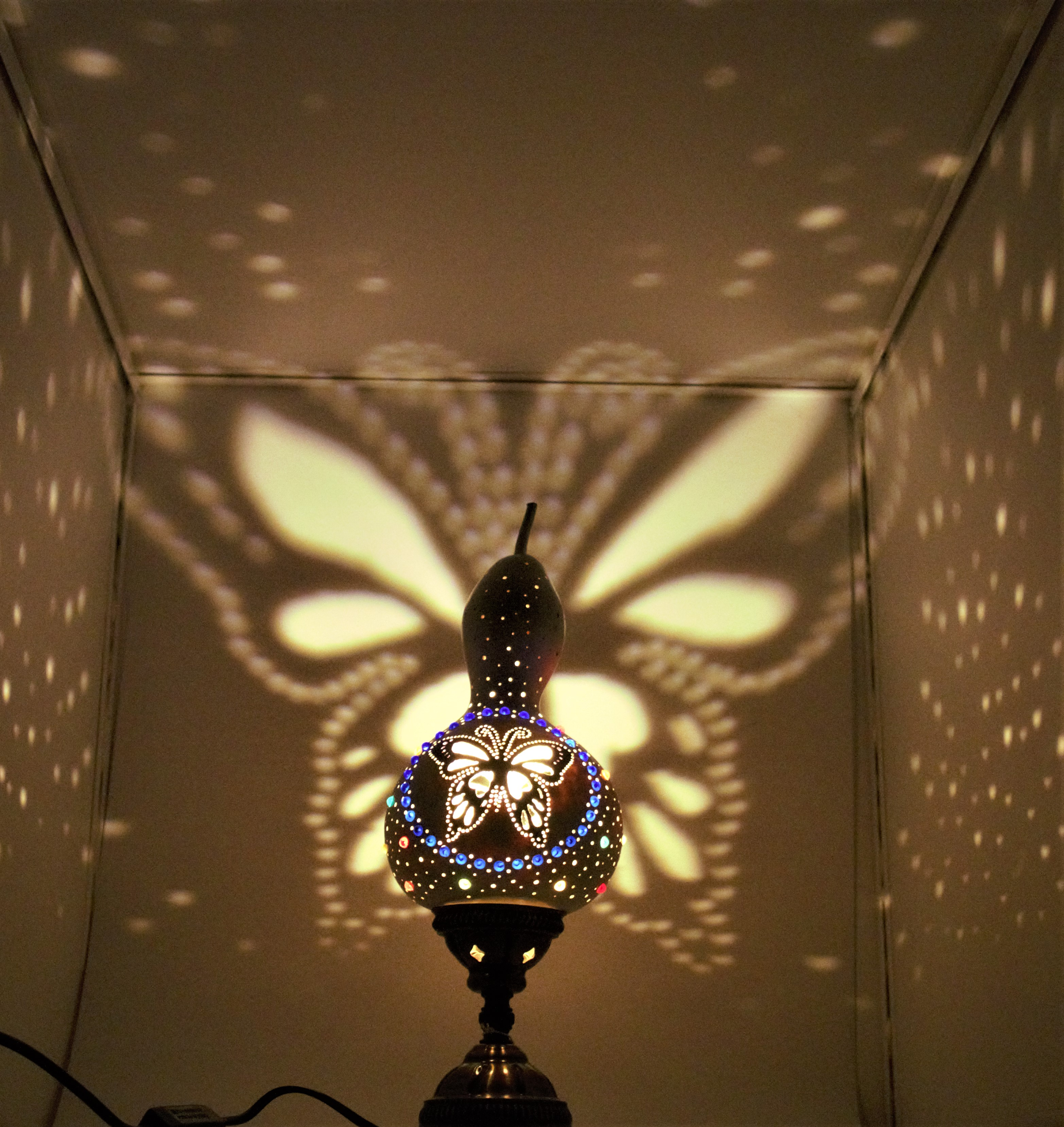 Butterfly Effect  Lampshad Night Lamp High Quality Material Gourd Table Handmade Cover Desk Lights For Bedroom Study Homereading