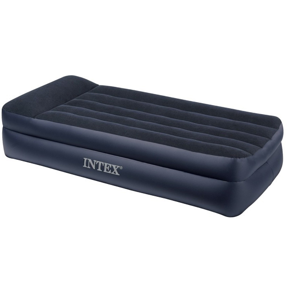 Intex Bed High Flock Quine, With Headrest, Electric Pump