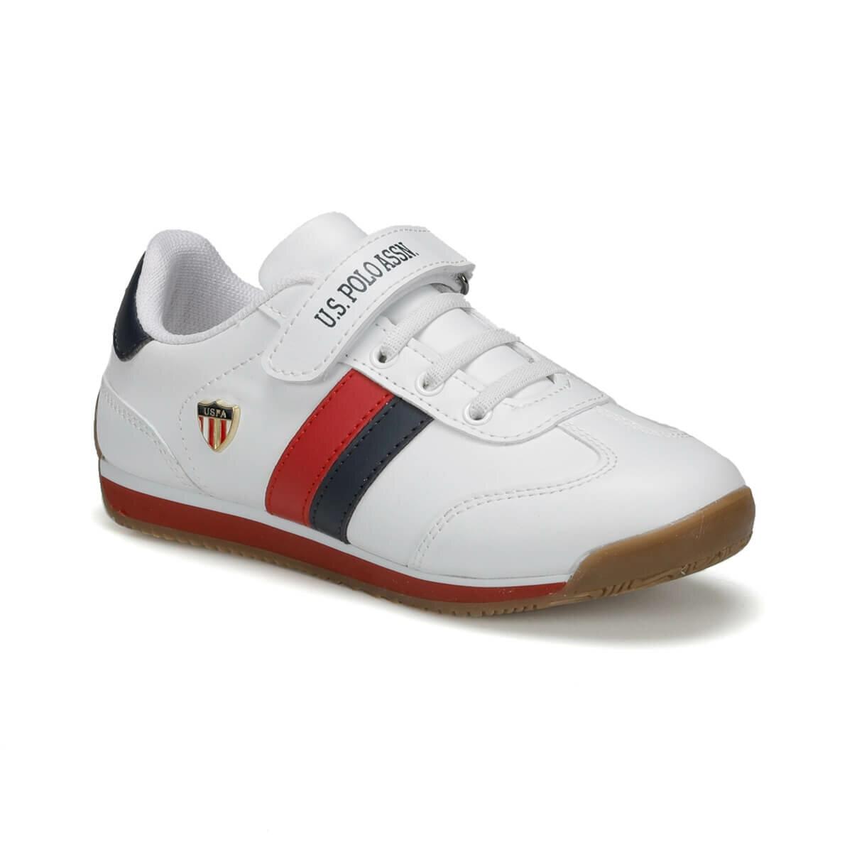 FLO BONI WT 9PR White Male Child Sneaker Shoes U.S. POLO ASSN.