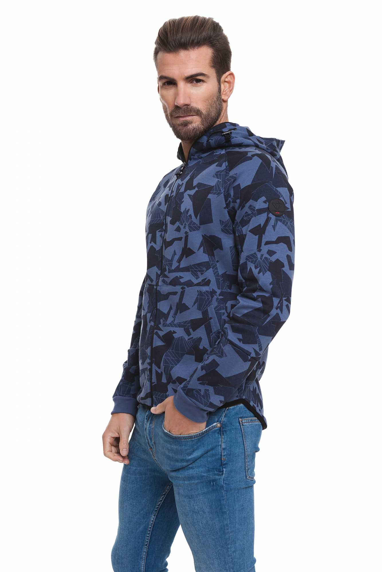 Born богатый балателли свитер для мужчин темно синий спортивный BR2E111087AA2BRC 2 - 2