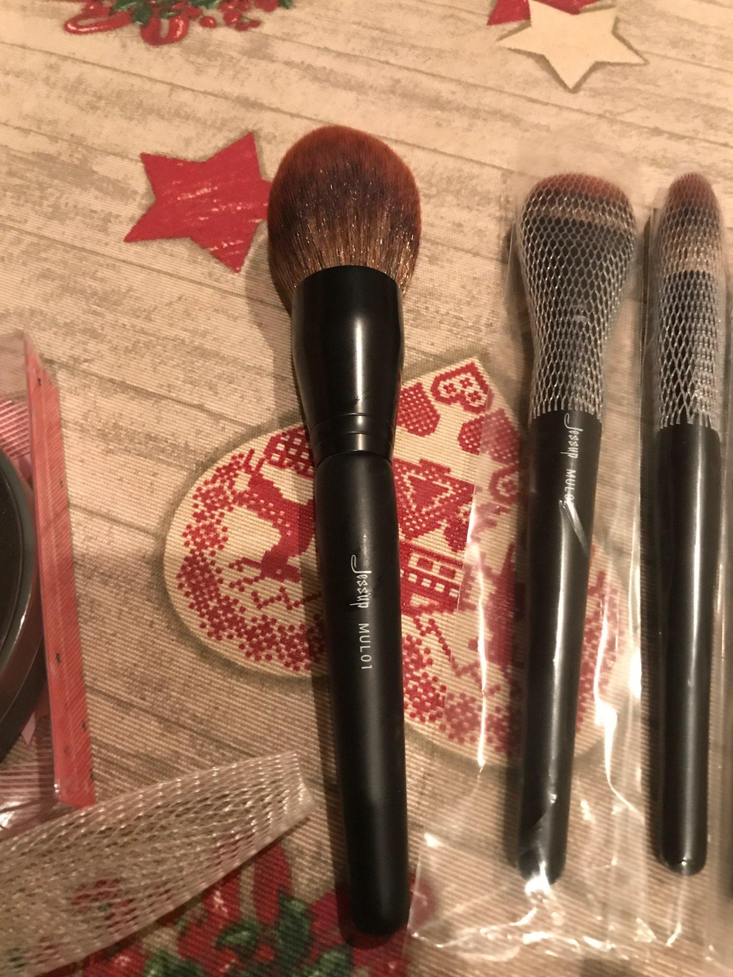 Jessup New Arrival Makeup brushes brushes Phantom Black 3-21pcs Foundation brush Powder Concealer Eyeshadow Synthetic hair reviews №4 235810