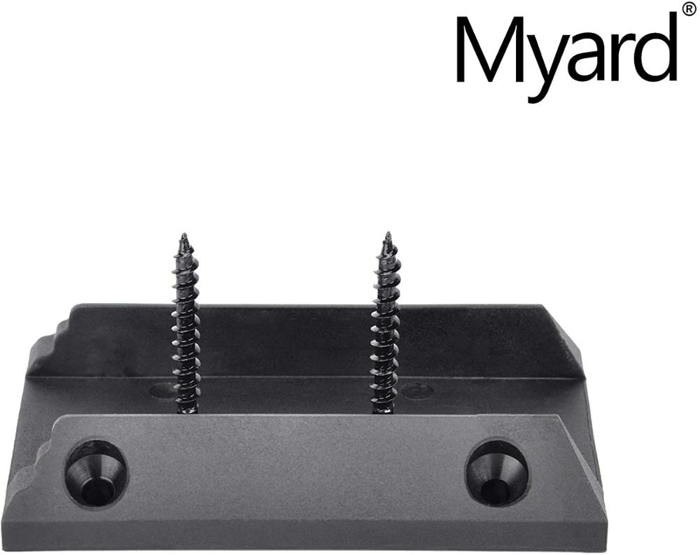 Myard Baluster Connectors with Screws for Deck Handrail Railing Fencing Qty 50, Classic Square Stair Connectors
