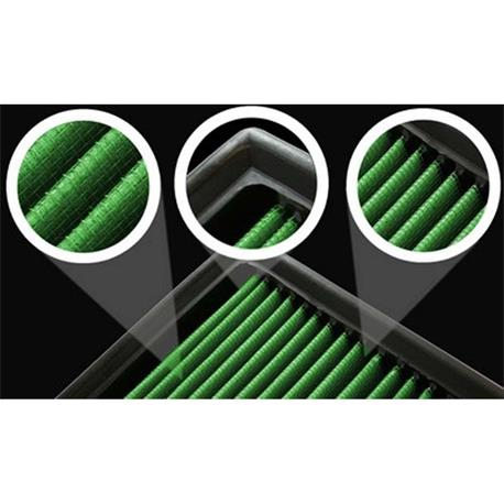 P960127 Green Filtro aire deportivo Toyota Rav 4 1,8L I Vvti 16V 125Cv 00 05 - 2