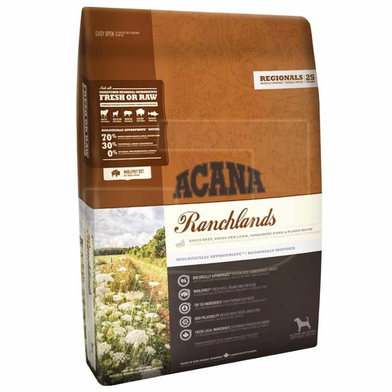 Acana Ranchlands Dog Food 2 Kg Healthy Growth Feeding Pet Food
