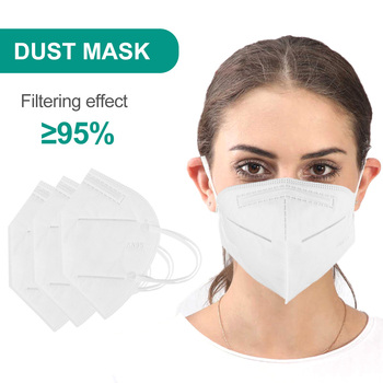 5/10/20PC KN95 Face Mask Disposable Respirator For Adults Fast Ship 5 Layer Anti-pollution Anti Dust Breathable Mouth Mask TSLM1 2