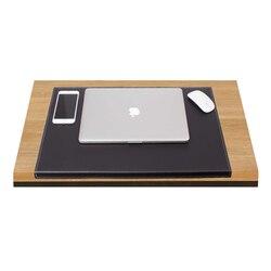 Bloc de bureau en cuir de luxe en cuir avec côté plié pour les ensembles de bureau (organisateur de bureau accessoires de bureau accessoires de bureau)