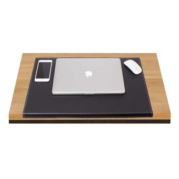 Luksusowe Skórzane biurko Pad skórzane Ped ze złożonymi korzystając z łączy z boku na biurko zestawy (organizer na biurko biuro akcesoria biurko akcesoria) tanie i dobre opinie Güner Ofis Skóra RMP 080 Black