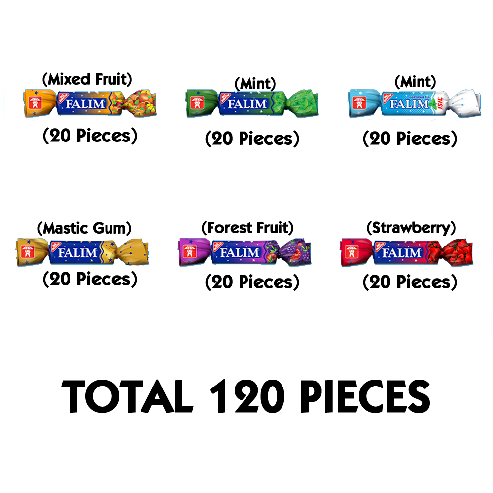 Falım Sugarless Chewing Gum Best Sugar Free Chewing Gum Sugar Free Gum 120 Pieces