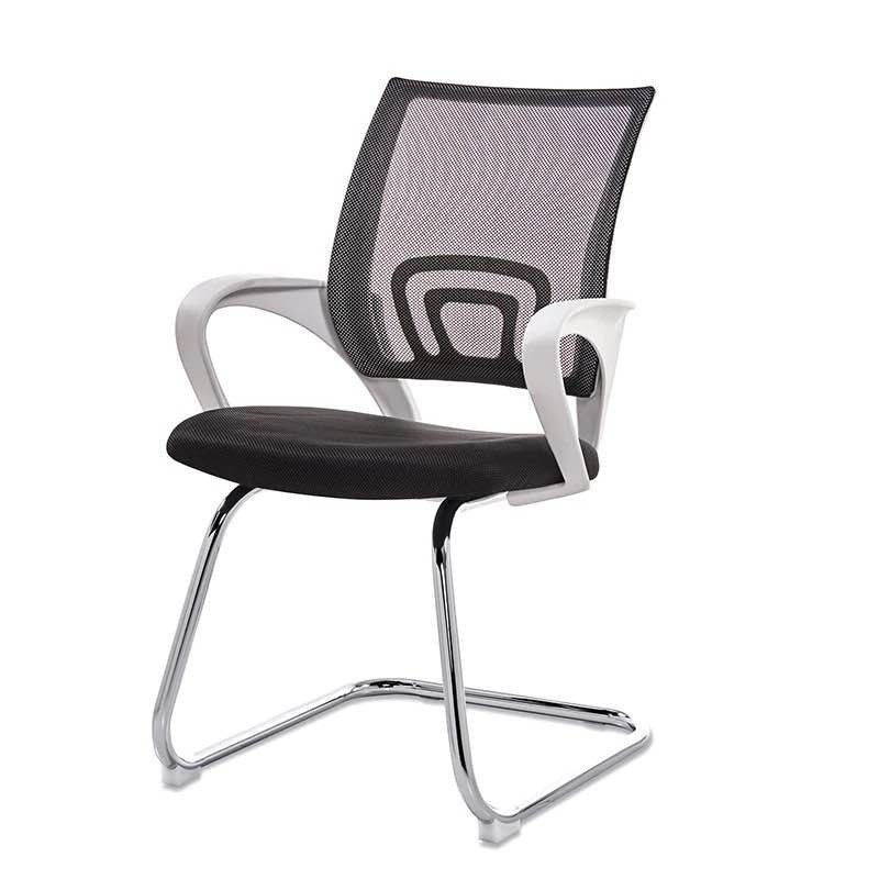 Office Armchair FISS NEW, White, Fixed, Mesh And Black Fabric