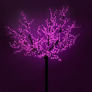 024746 Led Tree ARD-CHERRY-PRO2-2.4M-1728LED Pink (220V 210 W) ARLIGHT 1-pc