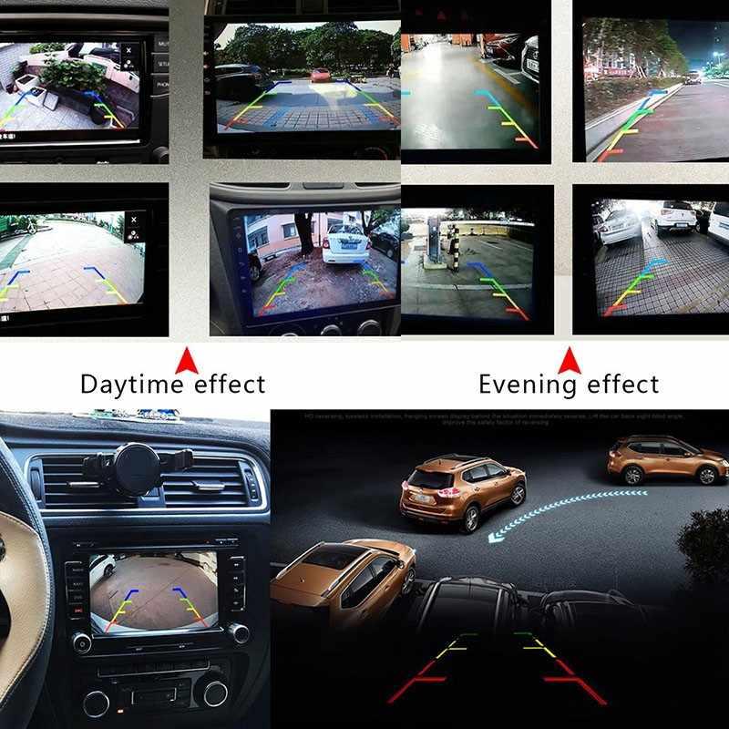 170 درجة زاوية واسعة سيارة عكس كاميرا HD للرؤية الليلية كاميرا الرؤية الخلفية احتياطية وقوف السيارات كاميرا فيديو عالية مقاوم للماء عكس رصد