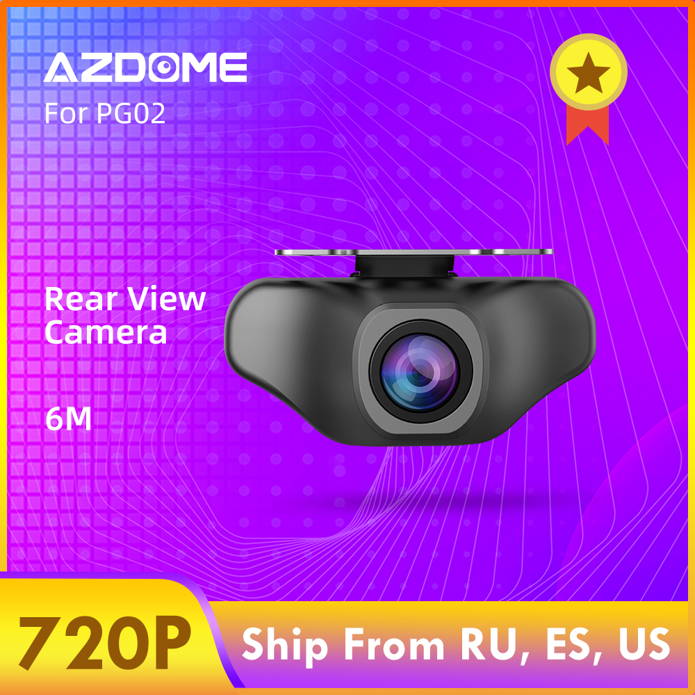 AZDOME 720P Car Rear View Camera For PG02 DVR Video Recorder Waterproof  Vehicle Backup Cameras