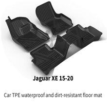 Автомобильный коврик для ног jaguar любой погоды ТПЭ черный