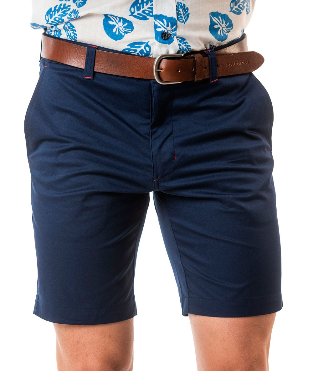 BERMUDA SPAGNOLO Gabardina Mens Shorts Cargo Color Blue Dark Menswear Summer 2020