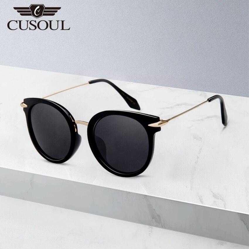 Cusoul Women Polarized Sunglasses Men UV400 Protection Vintage Round Frame Eyeglasses Fashion Sun Glasses Unisex Eyewear