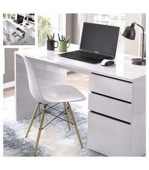 Desk 2 Drawers 1 Door Shiro.