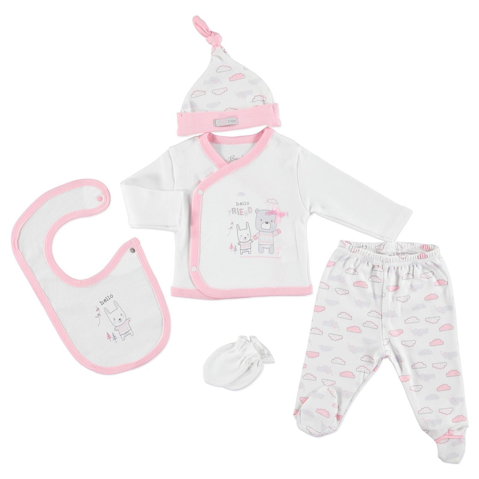 Ebebek Bambaki Cloud Baby Girl Newborn Hospital Pack 5 Pcs