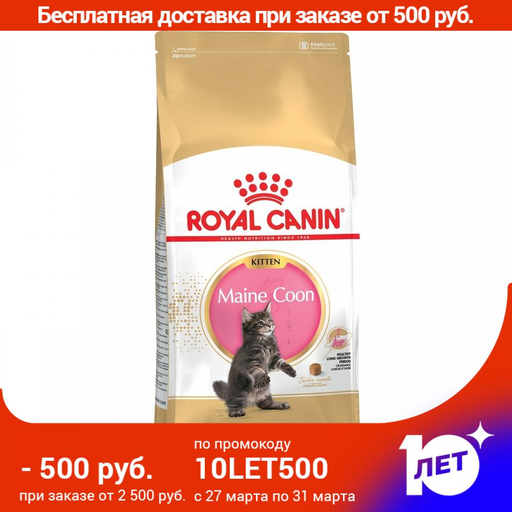 Royal Canin Maine Coon Kitten для котят породы мейн-кун, Cat Food, For Cats, 10 кг