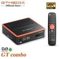 Android Smart TV BOX GTMEDIA GTCOMBO 4K HD DVB-S2X/T2/C Satellite TV Receiver Decoder/Google set Top Box Gebaut In Wifi Rezeptor