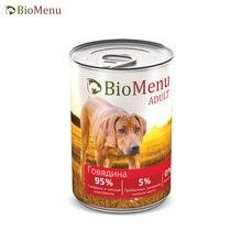 BioMenu ADULT Консервы д/собак Говядина 95%-МЯСО 410гр, 12 шт