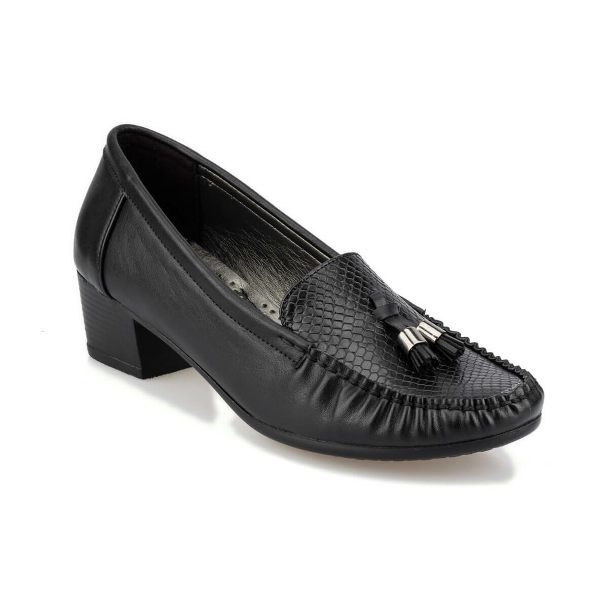 FLO 92.151058.Z Black Women Loafer Shoes Polaris