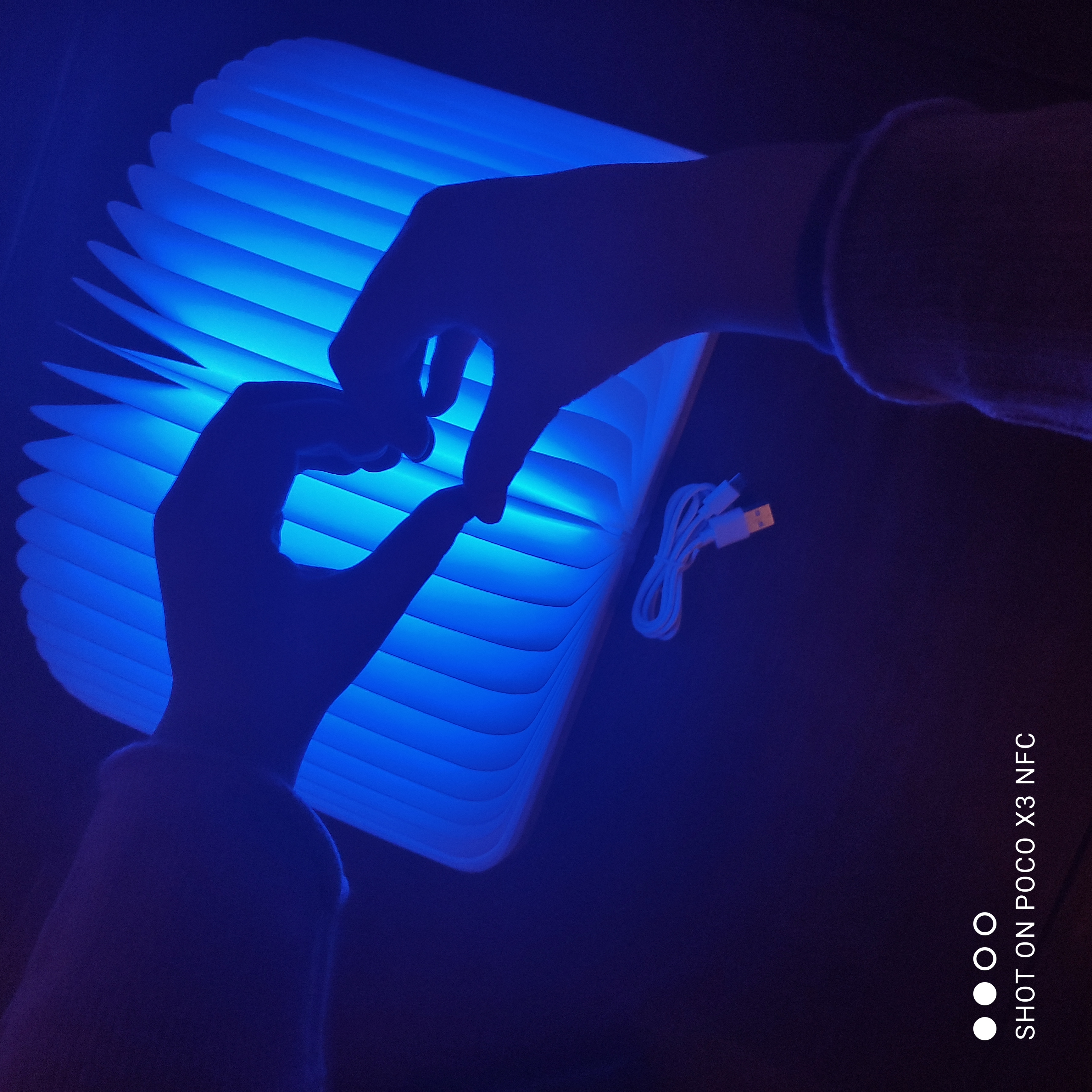 Foldable Accordion Lamp Wooden Night Light photo review