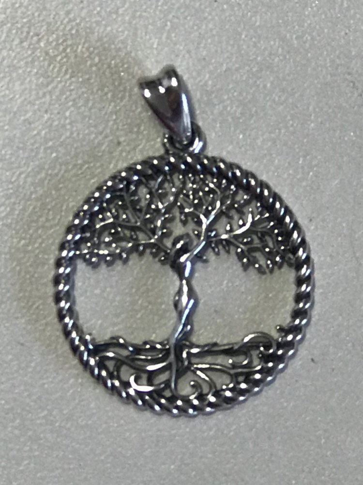 Collier arbre de vie en argent massif