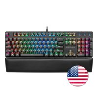 Mars Gaming MK5  mechanical keyboard switch Red  RGB  software  wrist supports  US|Keyboards| |  -