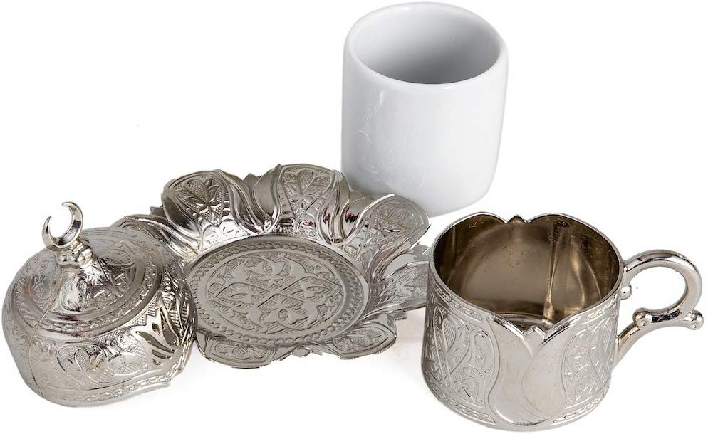1 шт. медные османские чашки для турецкого кофе Набор Сделано в турецкий арабский кофе набор чайных чашек набор чашки Эспрессо Традиционный ...