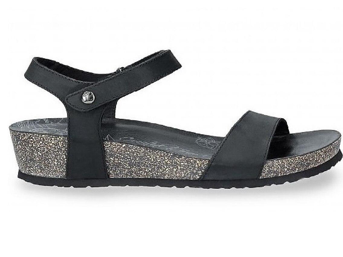CAPRI BASICS B2 NAPA GRASS NEGRO, Panama Jack, Shoeshop, Sandalias Mujer, Chanclas Mujer, Sandalias, Zapatos Mujer