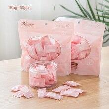 50шт/лот открытый путешествия одноразовые магия сжатого полотенце таблетки капсулы тканью салфетки бумажные маски ткани
