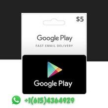 Подарочная карта Google Play, 5 долларов США, с кодом на 5 долларов США, магазин Android, предоплата ключа США