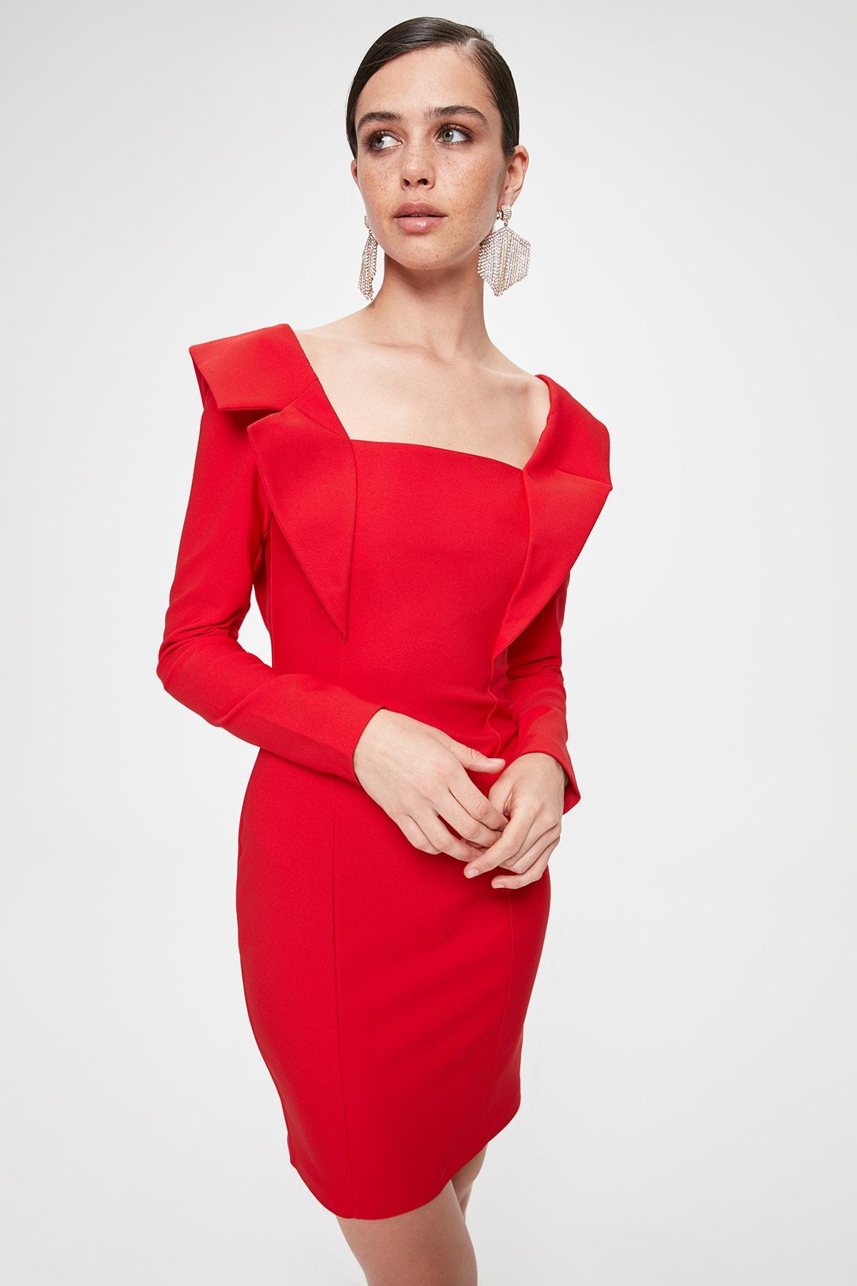 Trendyol Collar Detail Dress TPRAW20EL2170