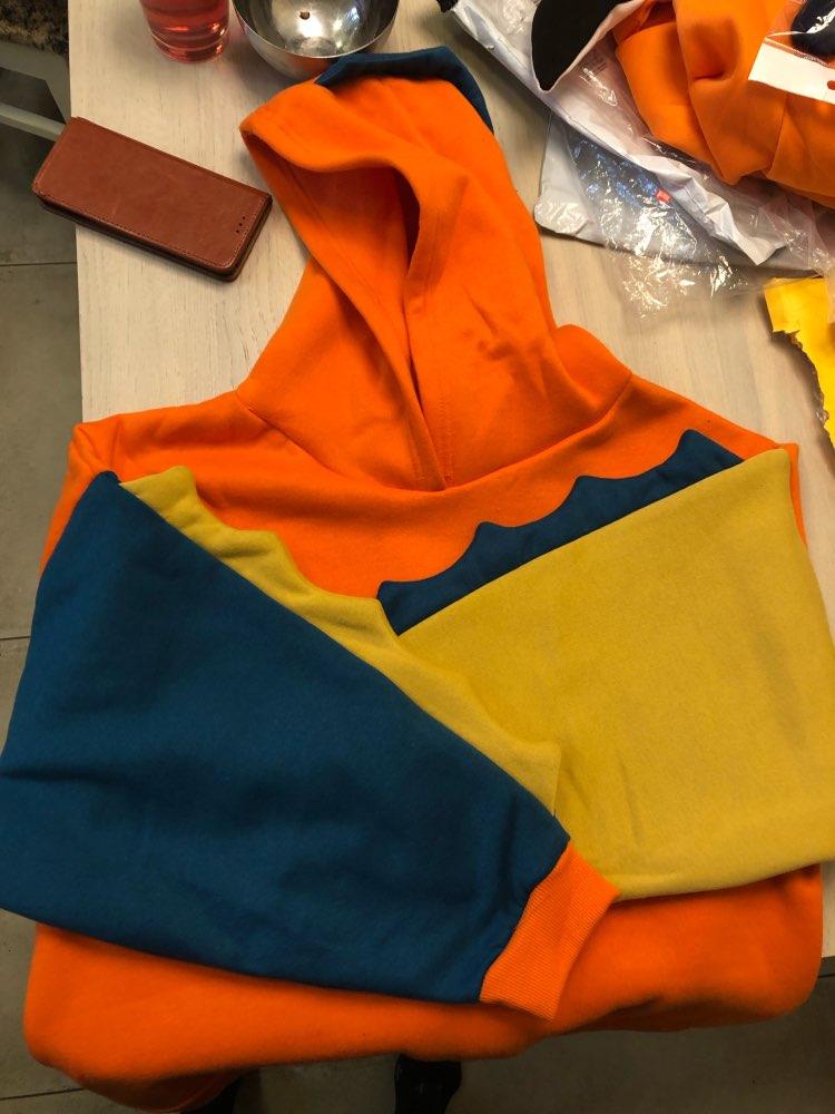 Hooded Patchwork Winter Cute Harajuku Kawaii Sweatshirt Women Oversize Sweatshirts Preppy Style Top Pullover Tracksuit photo review