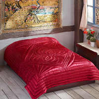 Handmade Vintage Quilt for bed Satin Cover Quilted Bedspread Duvet 4700g weight Cotton Anatolian Design Summer Four Seasons