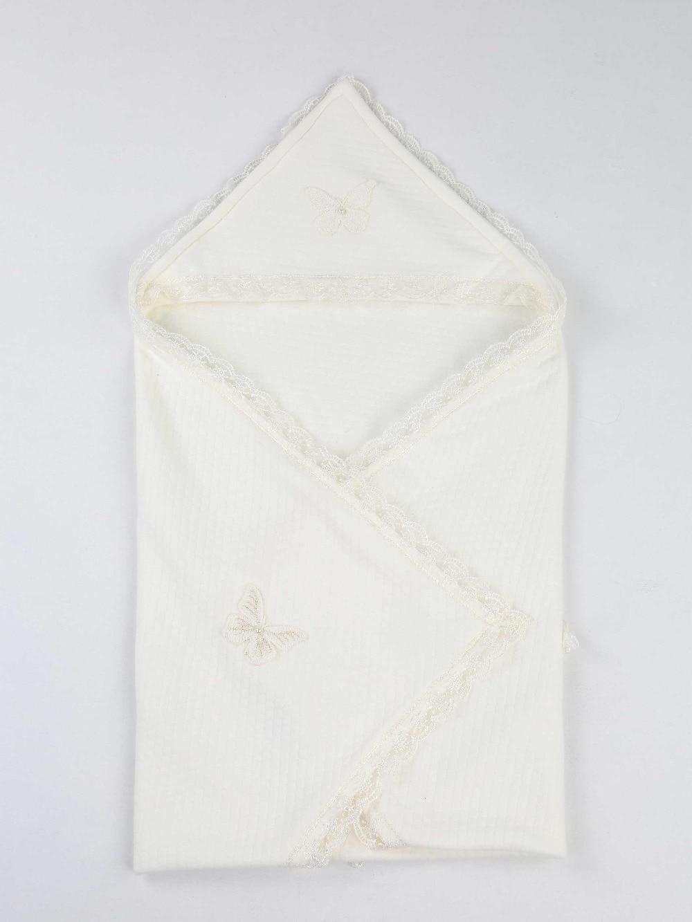 078-10211-027 Beyaz 85X85 cm  Bebek Kundak Battaniye (1)