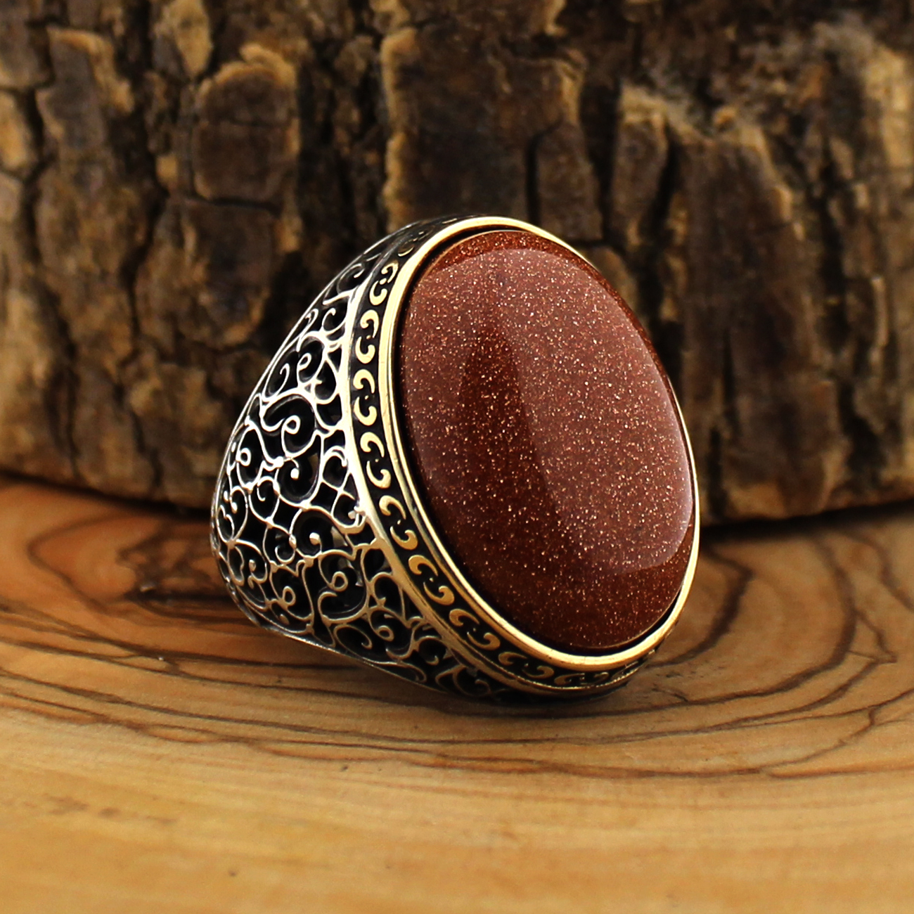 925 Sterling Silver Ring for Men Red Stars Agate Stone Zircon Jewelry fashion vintage Gift Mens Rings All Size Made in Turkey