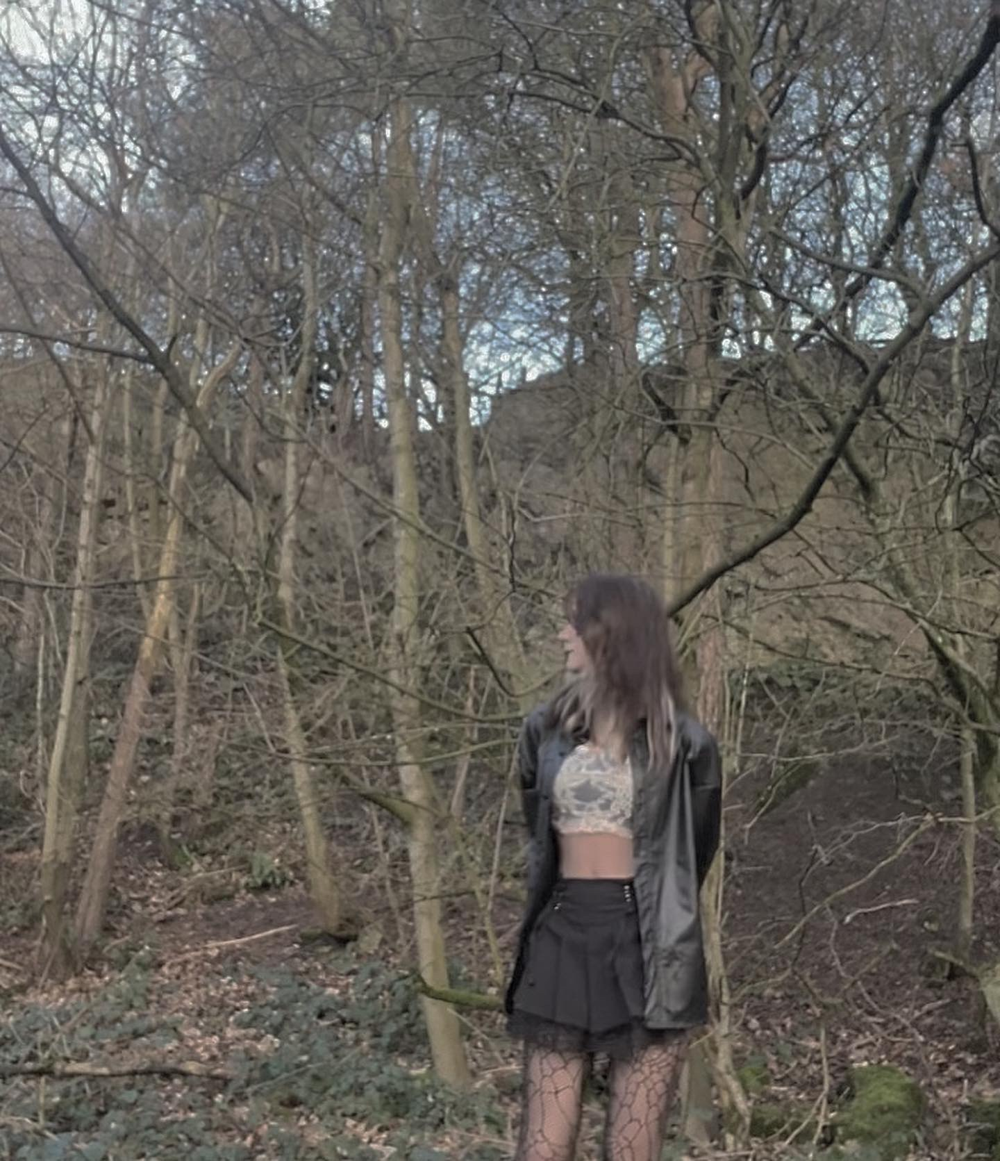 Lace Pleated Mini Skirt photo review