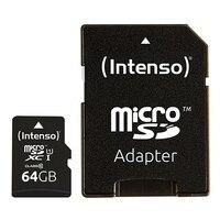 Mikro SD hafıza kartı adaptörü INTENSO 34234 UHS-I XC Premium siyah