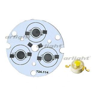 027722 Board D44-3E MONO Emitter (3x LED 724-114) ARLIGHT 1-pc