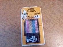 Забавные свечи-розыгрыш. Количество в упаковке 10 штук и 9 подсвечников. Выглядят как обычные. Без ядовитых цветов и запаха. Задать возможно, но не сразу. Если их попытаться задуть сразу после зажжения, они гаснут, а потом пламя само загорается снова.
